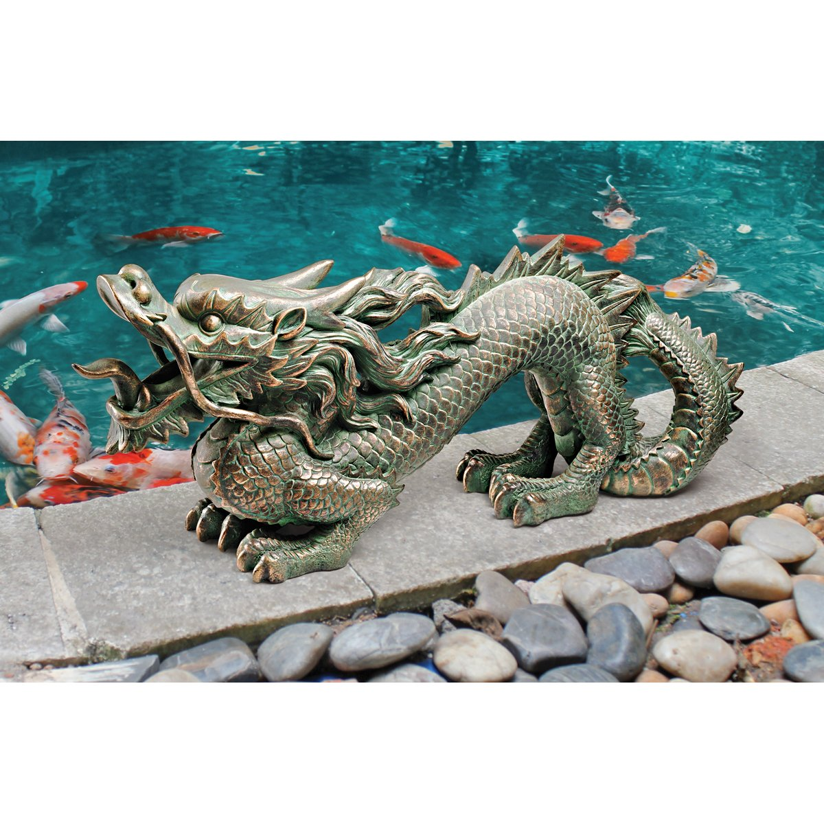 Amazon.com : Design Toscano Asian Dragon Of The Great Wall Statue : Wall  Statues For Garden Walls : Garden U0026 Outdoor