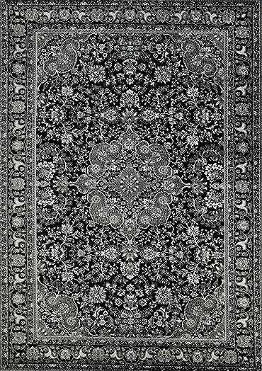 Persian-Rugs 10015 Dark Gray 5 2×7 2 Area Rug Carpet Large New
