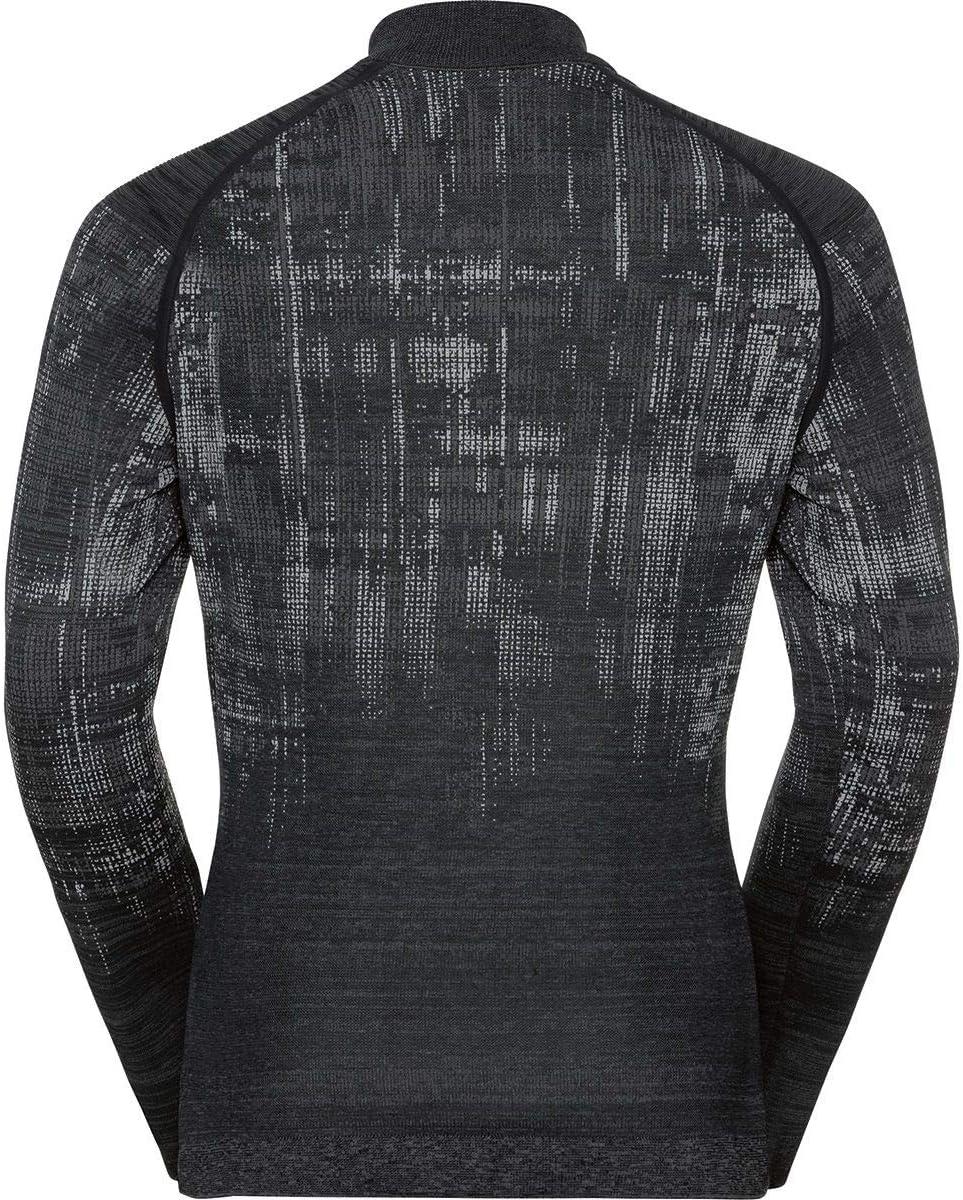 Odlo Midlayer 1//2 Zip Blackcomb XL