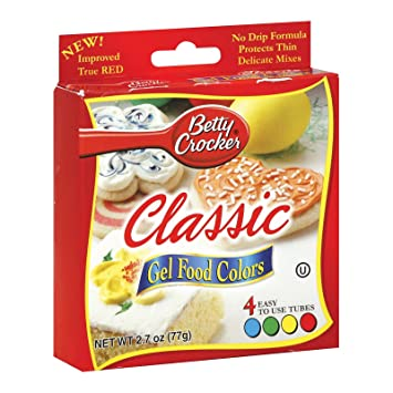 Amazon.com : Betty Crocker Classic Gel Food Colors - 4 CT : Gel Food ...