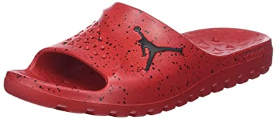 81cb039f9d0ee Jordan Nike Men s Super.Fly Team Slide University Red Black Black Sandal 8  Men