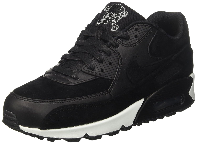 Nike Herren Air Max 90 Premium Sneaker  44 EU|Schwarz (Black/Chrome-off White)