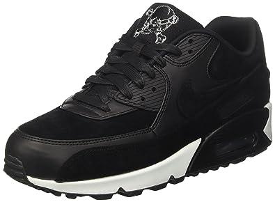 huge selection of e468f 8045a Nike Men s Air Max 90 Premium Gymnastics Shoes, (Black Chrome-Off White