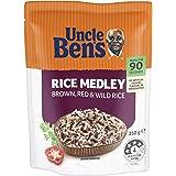 Uncle Ben's Uncle Bens Microwavable Rice Medley, 6 x 250 g, Plain