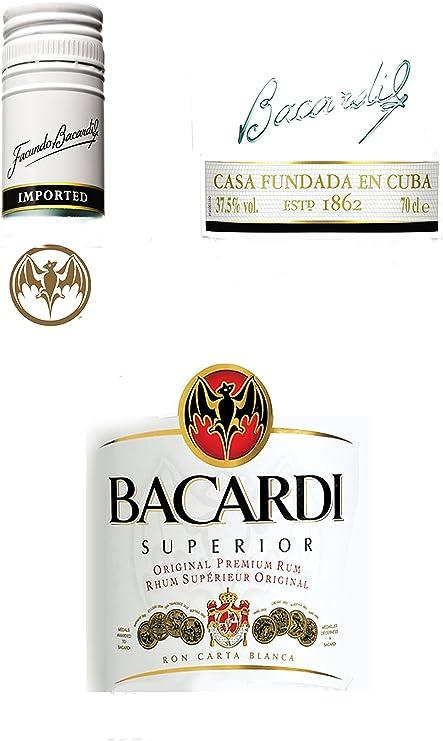 Toppers and Invites Bacardi Etiquetas glaseado Comestible decoración para Tarta para Kit