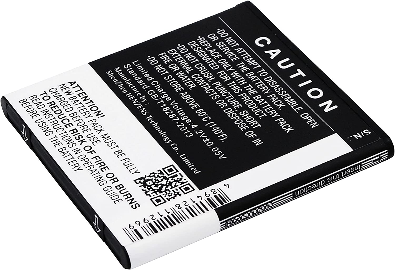 Battery Replacement for BLU D050L D050u D070 D070X D141T D352L D390U D390x Dash J Dash J 4.0 Dash JR TV Record