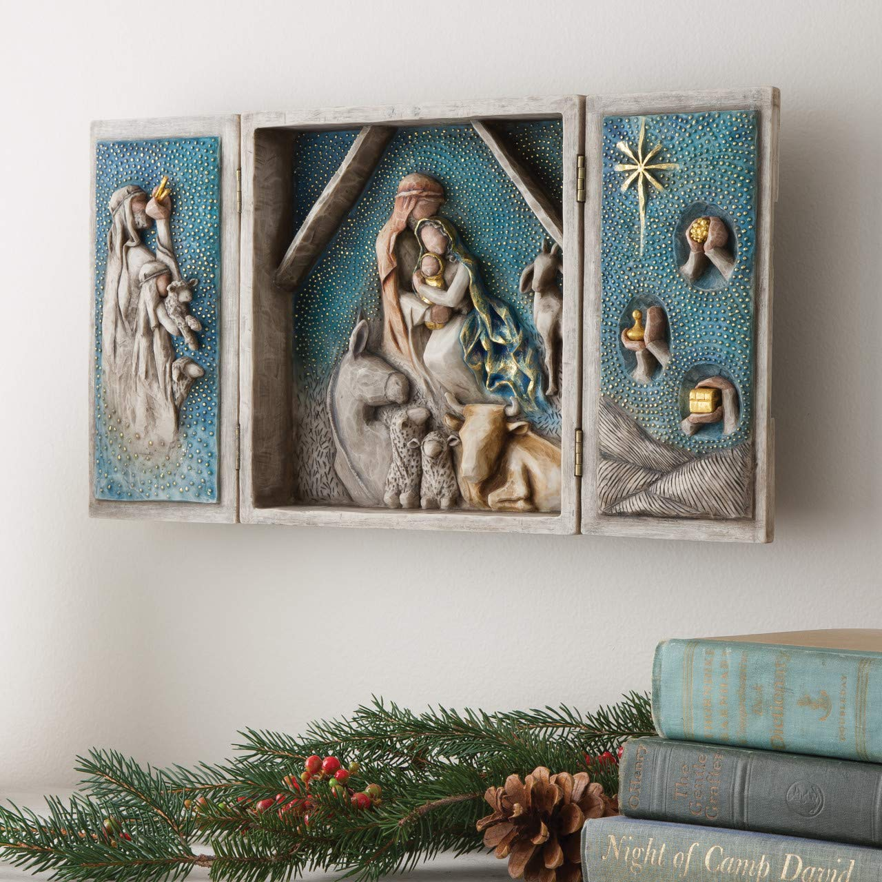 Willow Tree Starry Night Nativity, sculpted hand-painted nativity triptych by Willow Tree (Image #3)