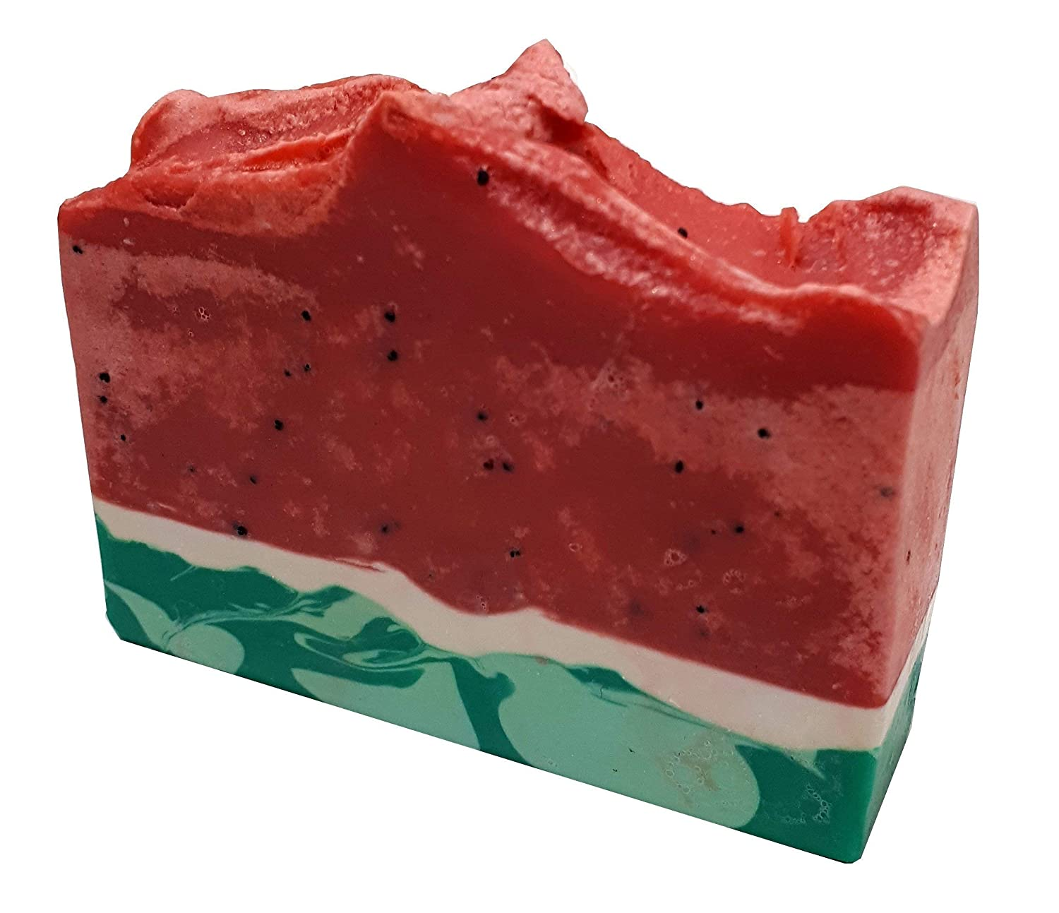 Handmade Watermelon Artisan Soap Bar 5oz - All Natural Soap- Vegan Soap made from Organic Ingredients scented with Watermelon Fragrance Oil by Rooty Culture