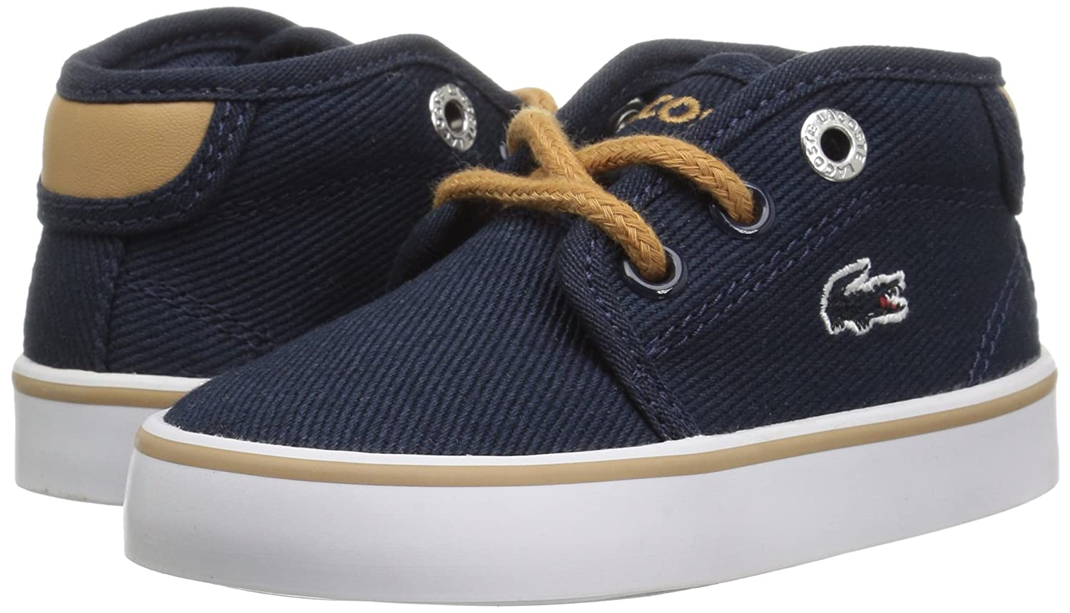 Navy Canvas 10 Lacoste Baby Ampthill Chukka Boot M US Infant