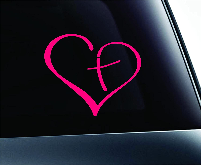 Amazon heart with cross bible christian symbol decal funny amazon heart with cross bible christian symbol decal funny car truck sticker window pink automotive biocorpaavc
