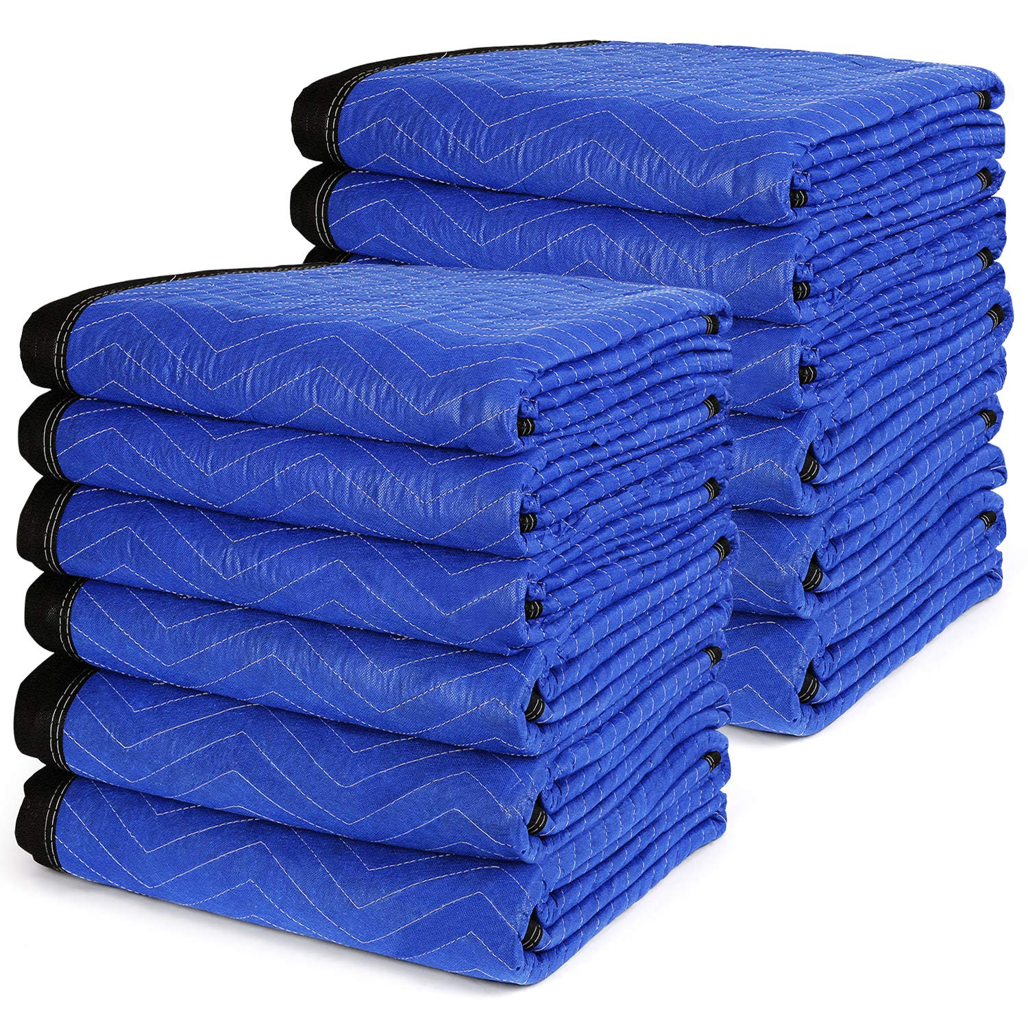 12 Moving Packing Blankets 72'' x 80'' - TUSY Heavy Duty Furniture Moving Pads 35lb, Ultra Thick Professional Quilted Shipping Blanket by TUSY