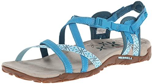 49039bb4293f Image Unavailable. Image not available for. Colour  Merrell Women s Terran  Lattice Sandal Algiers Blue ...