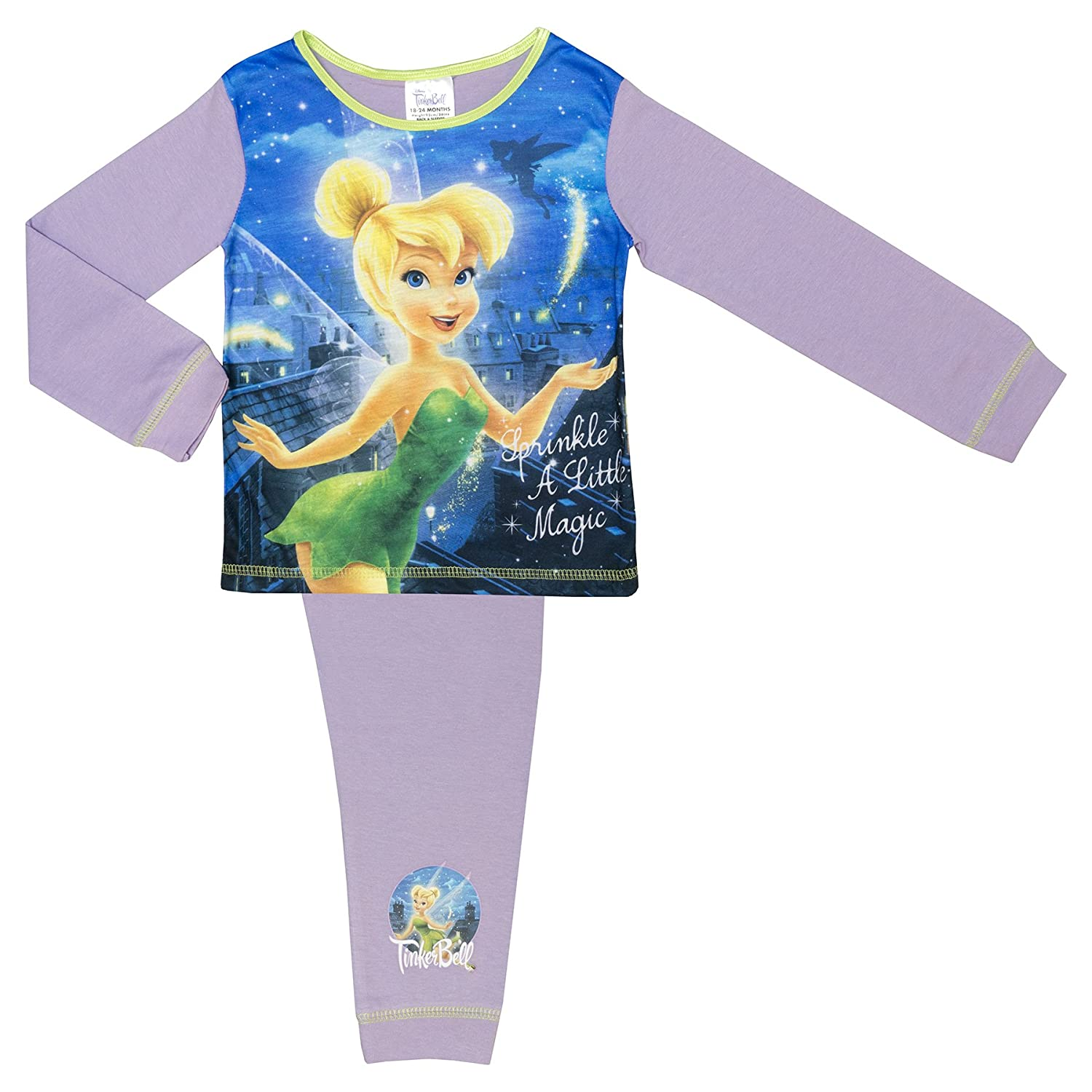 Cartoon Character Products Disney Girls Tinkerbell Pyjamas - 18 Months to 5 Years