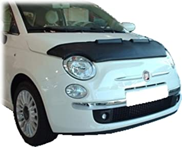 HOOD BRA Front End Nose Mask for Fiat 500 since 2007 Bonnet Bra STONEGUARD PROTECTOR TUNING