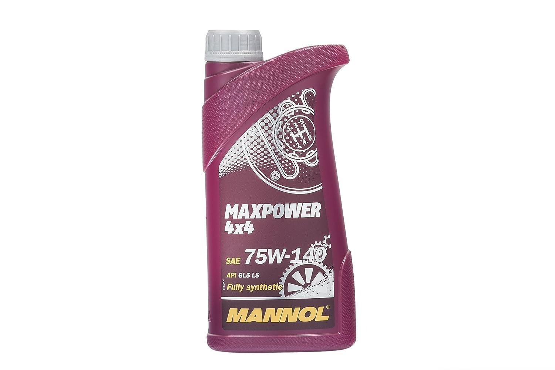 MANNOL MAX Power 4 X 4 75 W de 140 API GL 5 LS, 1 L 1L MN8102-1