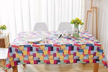 Amazoncom Snowskite Colorful Table Cloth Cotton Oil Painting