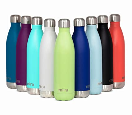 4c5a12e11f MIRA 25 Oz Stainless Steel Vacuum Insulated Water Bottle | Double Walled  Cola Shape Thermos | 24 Hours Cold, 12 Hours Hot | Reusable Metal Water  Bottle ...