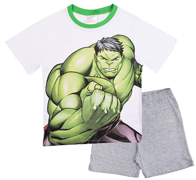 Marvel - Pijama Dos Piezas - Manga Corta - para Niño Blanco White/Grey 4