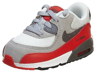 buy online b53c7 13cc5 Nike Air Max 90 Bébé Grise Et Rouge Gris 26