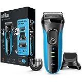 Braun Series 3 Shave & Style 3010BT Rasoio Elettrico Wet & Dry 3 in 1, Rifinitore di Precisione, Rasoio da Barba e Regolabarba per Uomo