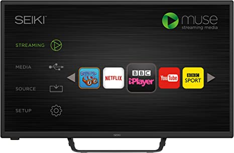 Seiki HD Ready 32-Inch Smart LED TV with Built-in Wi-Fi and Freeview HD, [Importado de Reino Unido]: Amazon.es: Electrónica
