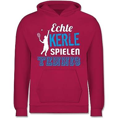 purchase cheap dbba5 fbb8a Sport Kind - Echte Kerle Spielen Tennis - Kinder Hoodie ...