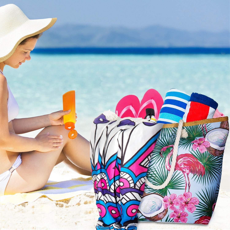 Czoele Borsa da Spiaggia Grande,Tote Borse a tracolla con Chiusura zip XXL Borse a Mano Borsa da Viaggio in PU Grande Borse a zainetto per Donna e Ragazza
