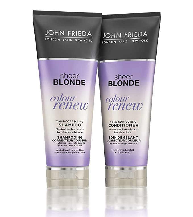 John Frieda Sheer Blonde Colour Renew Tone Correcting Duo Set Shampoo Conditioner 8 45 Ounce 1 Each Beauty