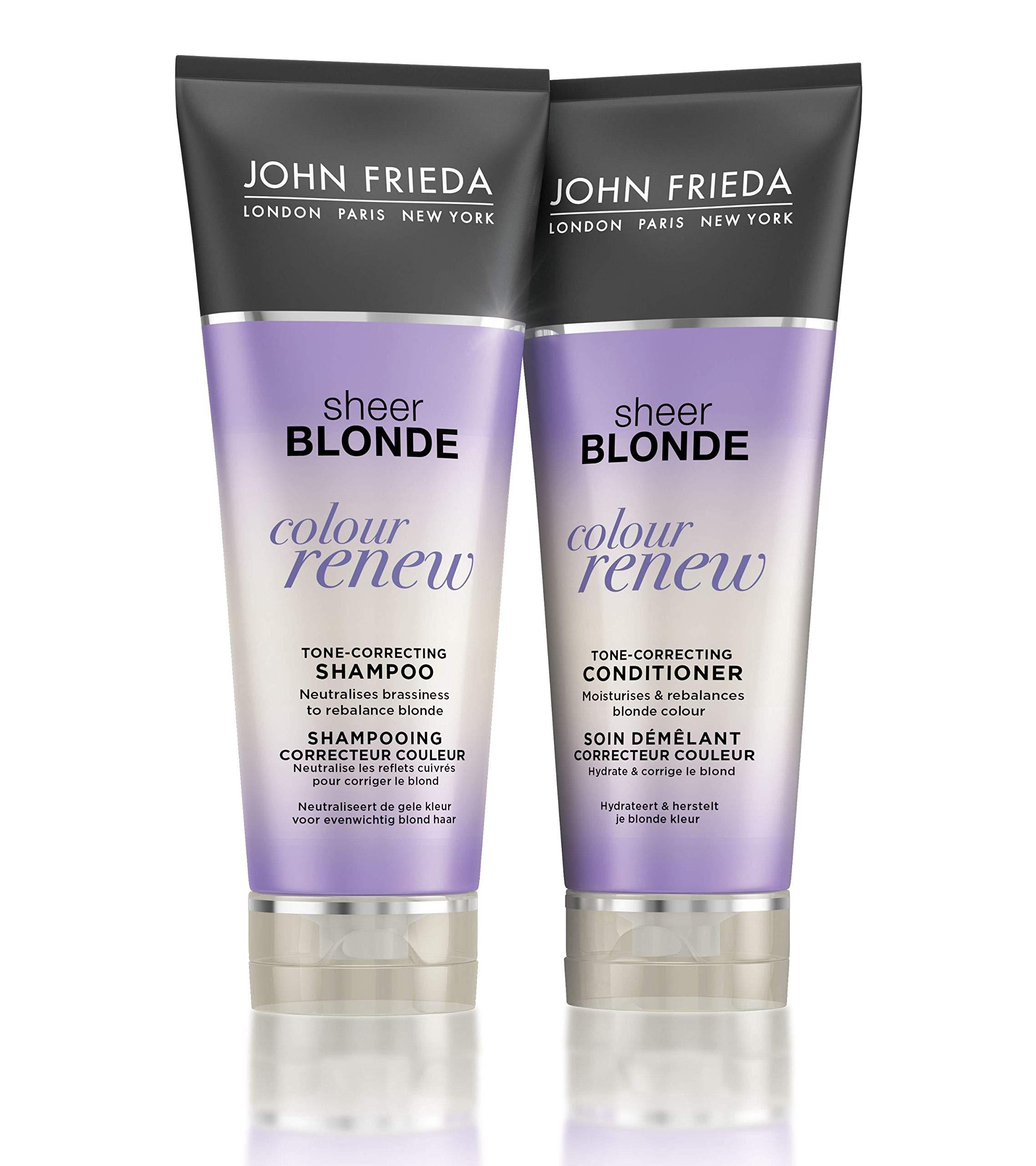 John Frieda Sheer Blonde Colour Renew Tone Correcting Duo Set Shampoo Conditioner 8 45 Ounce 1 Each Buy Online In El Salvador At Elsalvador Desertcart Com Productid 19569097