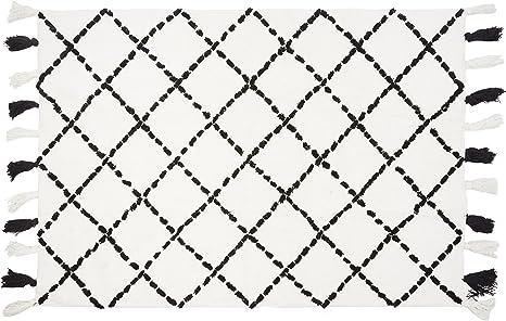 Aratextil. Alfombra Infantil 100% Algodón lavable en lavadora Colección Bereber Tanger Negro 120x160 cms: Amazon.es: Bebé