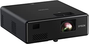 Epson EpiqVision Mini EF11 Laser Projector, 3LCD, Portable, Full HD 1080p, 1000 lumens Color Brightness and White Brightness, Compatible with Roku, FireTV, Chromecast, Playstation, Xbox
