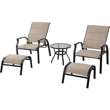Superbe Amazon.com : Highland Knolls Padded Sling 5 Piece Leisure Set : Garden U0026  Outdoor