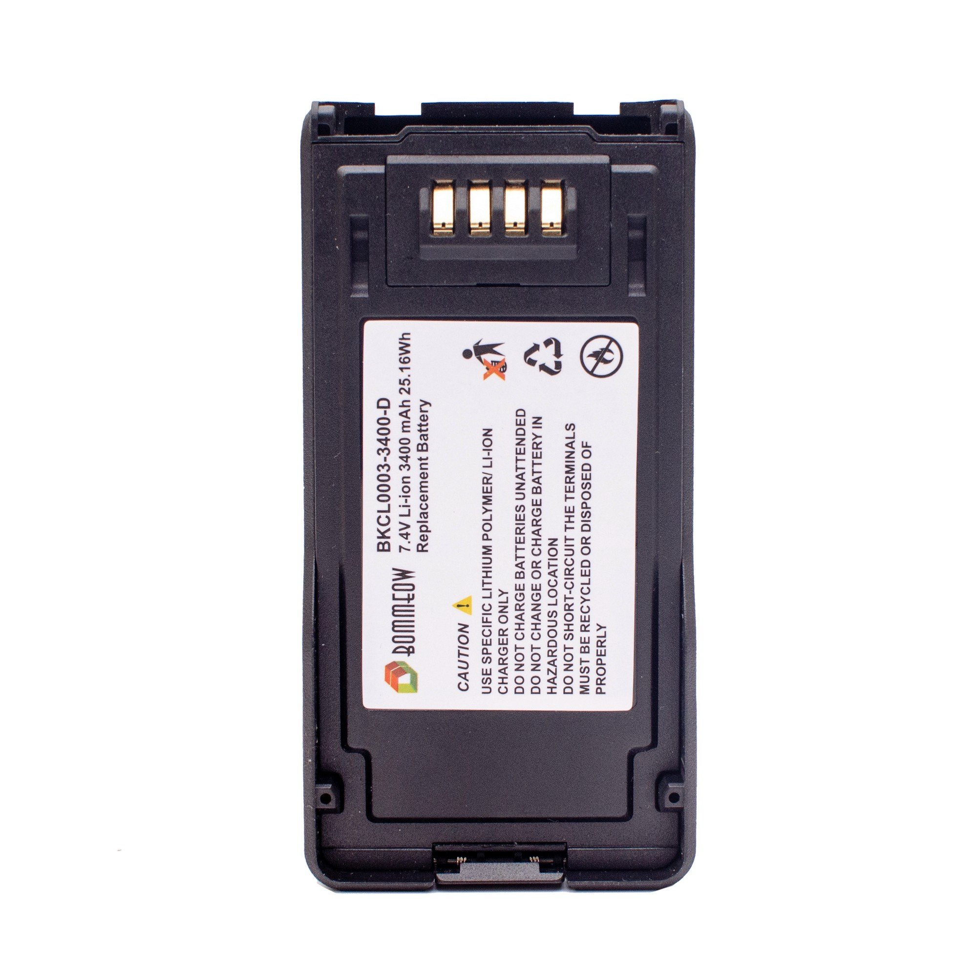 Bommeow BKCL0003-3400-D Replacement Battery for Kenwood JVCKenwood TK5230 TL5430 NX-5200 NX-5300 NX-5400