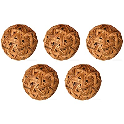 RaanPahMuang Wide Weave Rattan Small Sepak Takraw Thai Ball 18cm - Set of 5 Balls : Sports & Outdoors