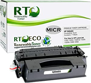 Renewable Toner Compatible MICR Toner Cartridge High Yield Replacement for HP 49X Q5949X Laserjet 1320 3390 3392