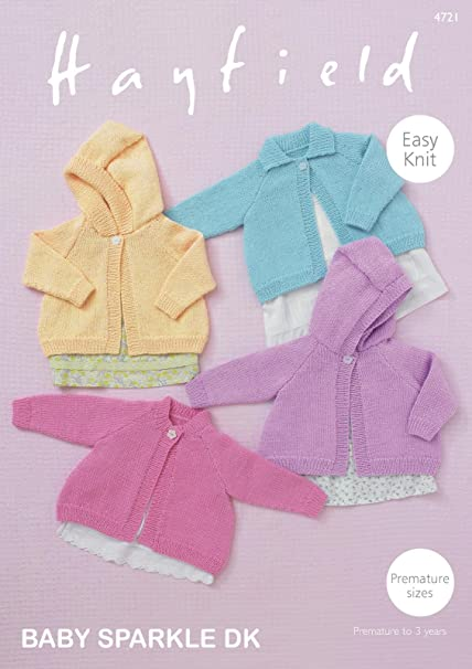 Sirdar 4721 Knitting Pattern Baby Girls Easy Knit Cardigans In
