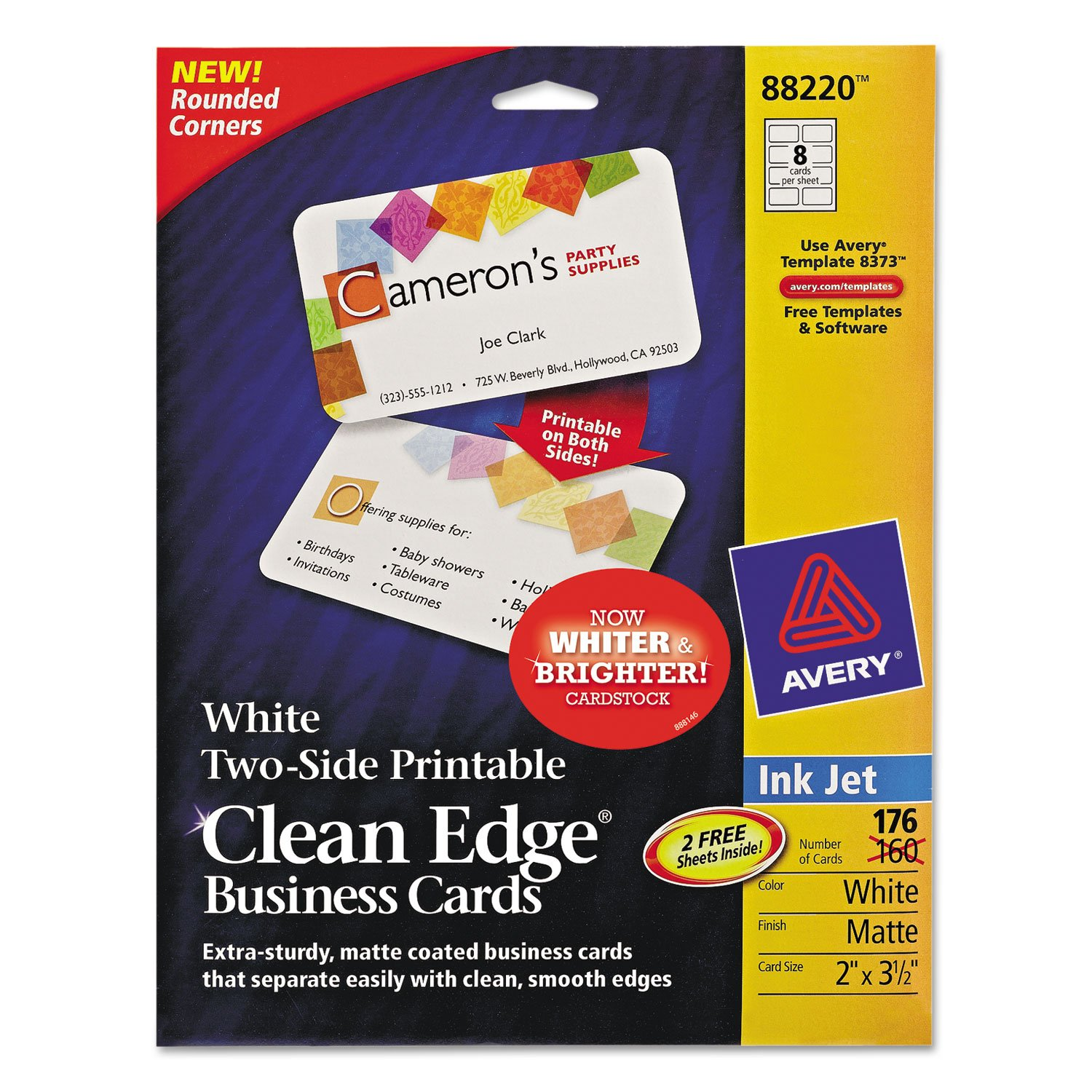 amazon com ave88220 avery clean edge 88220 business card