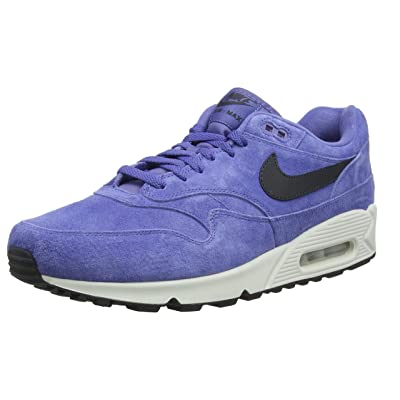Amazon.com | Nike Air Max 90/1 Purple Basalt Suede Running Mens | Fashion Sneakers