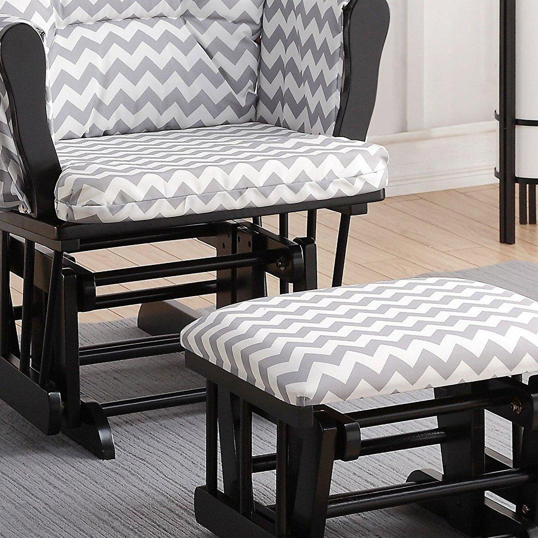 Brilliant Naomi Home Brisbane Glider Ottoman Set With Cushion In Uwap Interior Chair Design Uwaporg