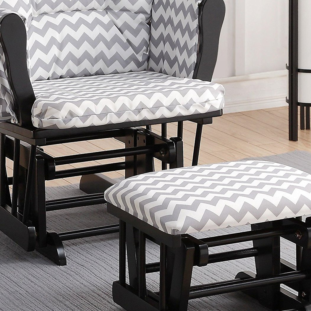 Fabulous Naomi Home Brisbane Glider Ottoman Set With Cushion In Machost Co Dining Chair Design Ideas Machostcouk