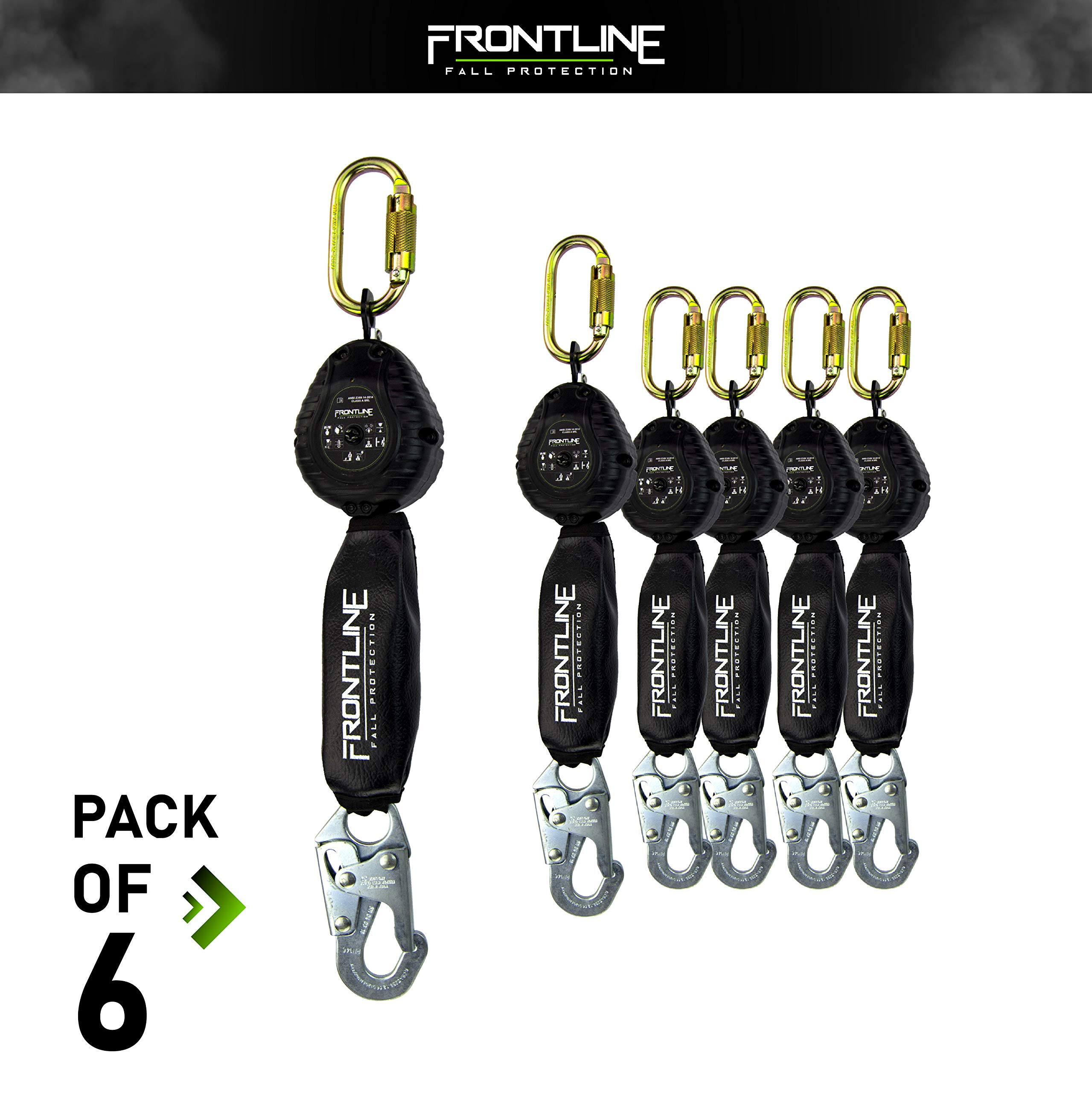 Frontline RPW061S Web Single Leg 6ft SRL with Steel Snap Hook End (6 Pack)