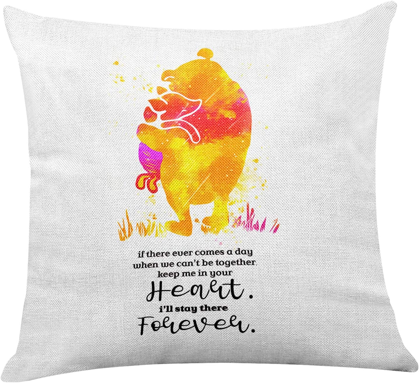 Yuzi-n Classic Winnie The Pooh Quote Pillow Covers for Nursery/Home/Kids Room Decor - Winnie The Pooh Gifts for Kids Teens Girls Women - Nursery Watercolor Pillow Covers Home Sofa Decoration