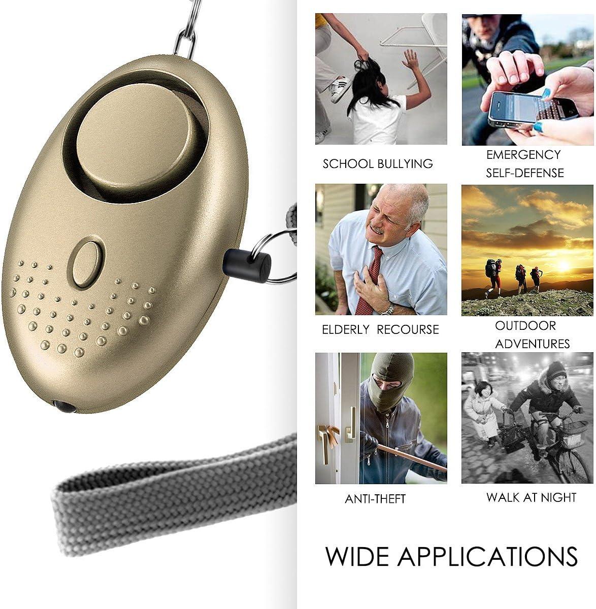 DERCLIVE Dispositifs de S/écurit/é Personnels avec Alarme Sonore Et S/écurit/é pour Les Enfants Et Les Personnes /Âg/ées