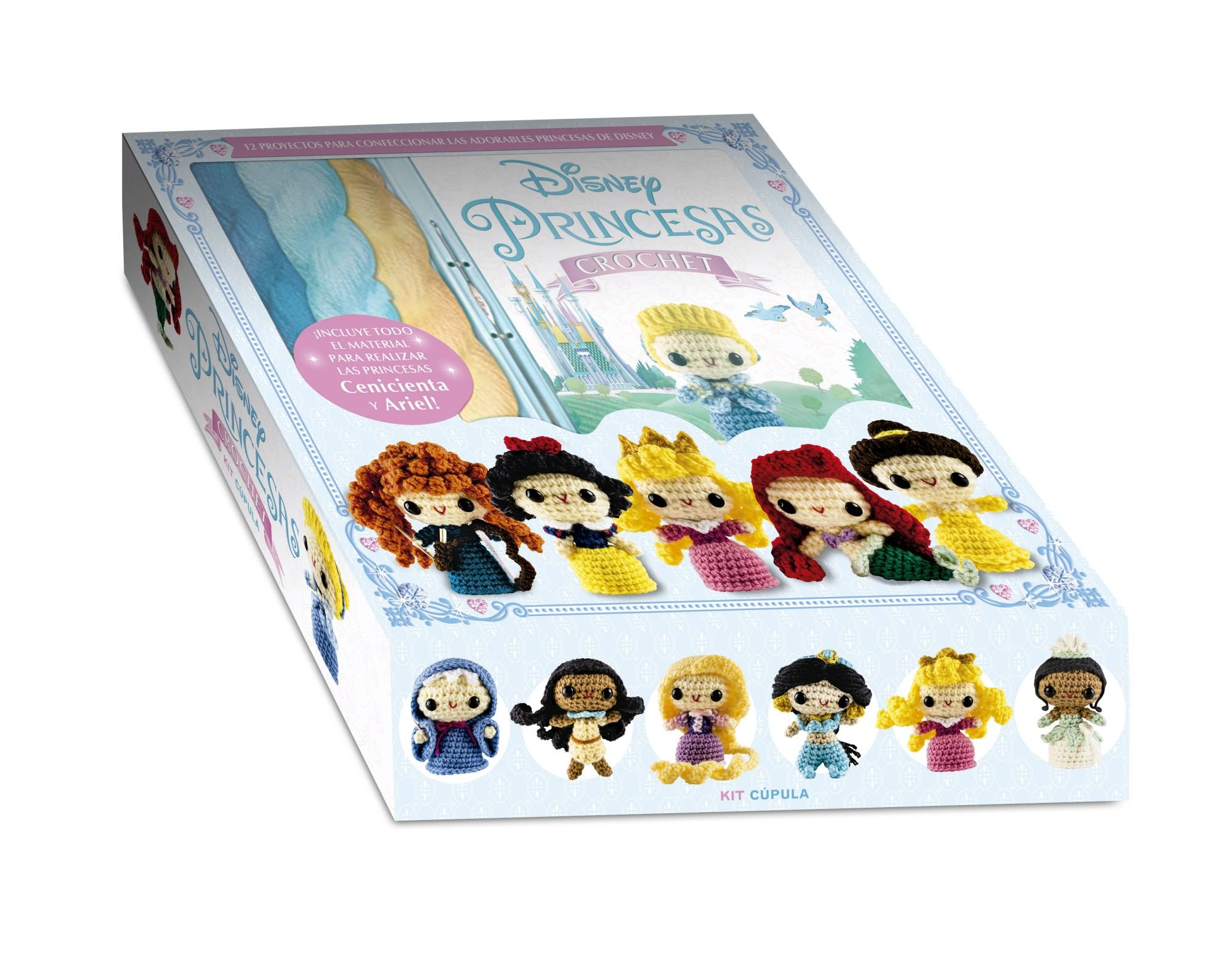 Kit Tus princesas Disney crochet product image