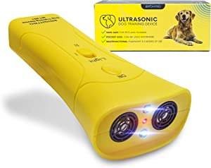 BRIGHTRO Ultrasonic Anti Barking Device Electronic Dog Bark Deterrent Training Tool Stop Barking Safe Gentle Silencer Outdoor-Indoor Dogs Training Devices…