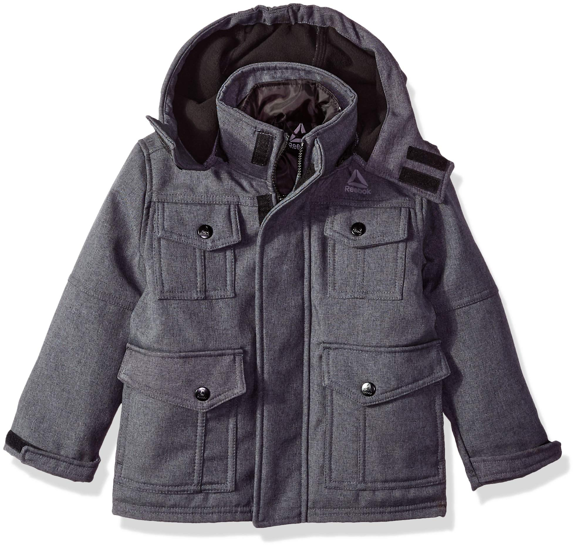 Reebok Boys' Big Active Pockey Systems Jacket, Charcoal, 8 by Reebok (Image #1)