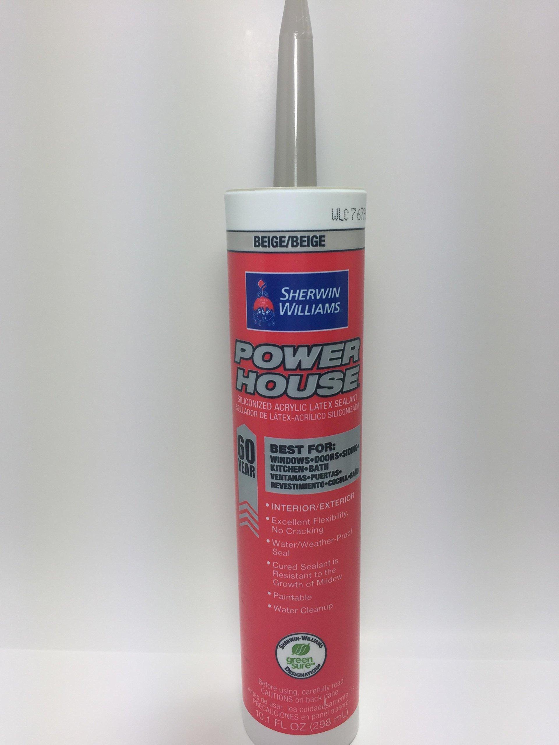 Sherwin Williams Power House Siliconized Acrylic Latex Sealant- 10.1 FL OZ- Beige color- 12 per case