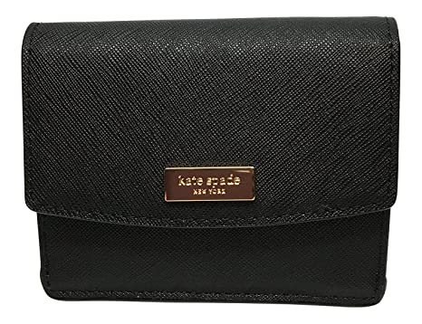 39d642666a127 Kate Spade Laurel Way Petty Saffiano Leather Wallet (Black) at ...