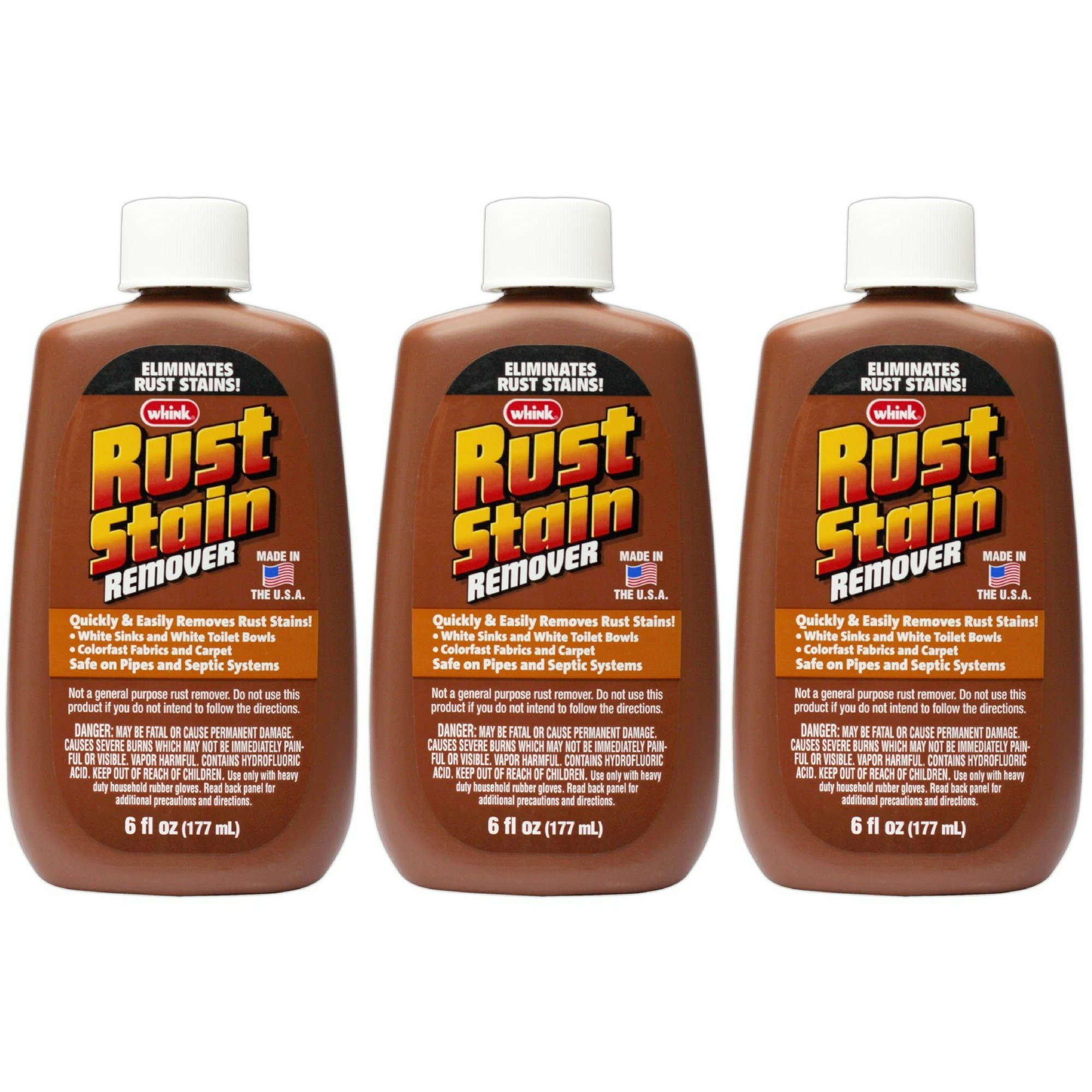 Whink Rust Stain Remover 6 Ounce (1, 3 Pack - 6 oz)