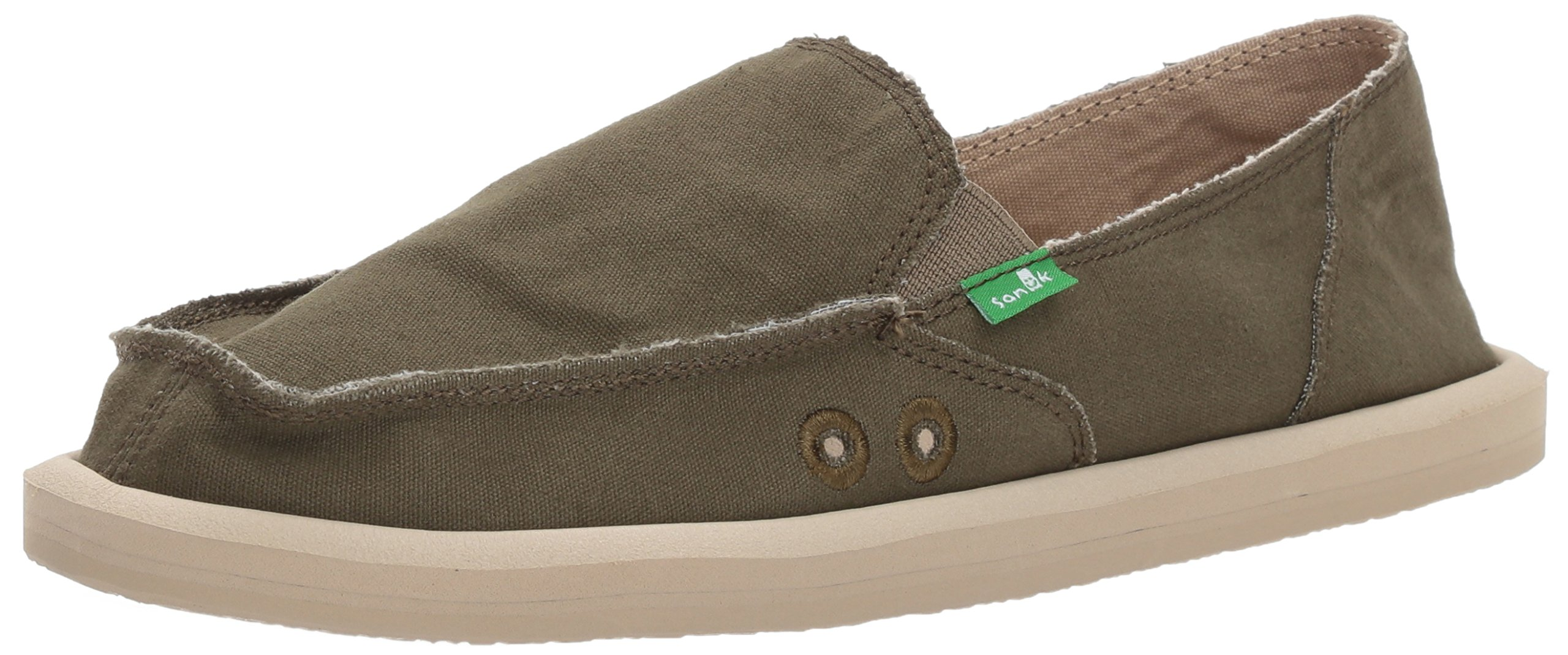 Sanuk Women's Donna Daily Slip-on Loafer, Dark Olive, 9 M US